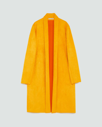 Cappotto Con Zara Arancione Sintetico Camoscio Nuova Etichetta Giacca Senape 0gqCxPBw