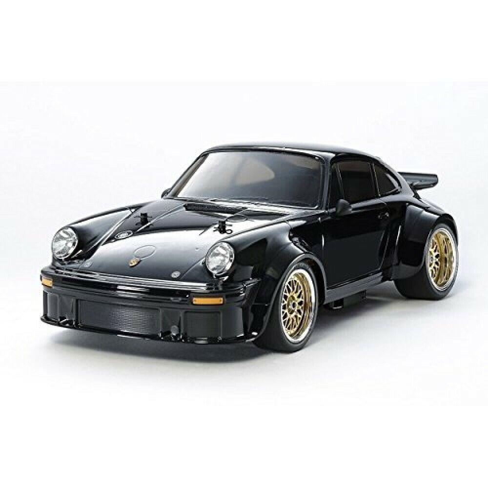 TAMIYA 1 10 Eléctrico RC Coche No.62 Porsche Turbo RSR 934 Negro TA02SW Chasis