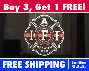 Image is loading IAFF-Firefighter-The-Thin-Red-Line-Window-Decal-