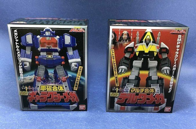 Bandai súper minipla Modelo Megazord Power Rangers Denji Megaranger Delta Galaxy