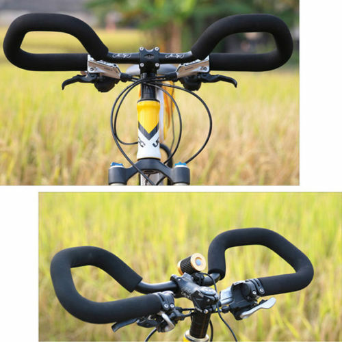Bicycle Butterfly Handlebar 25.4//31.8*580mm Aluminum Fixed Gear Bar With Sponge