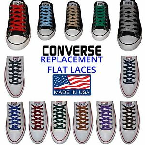 057e6860926a Image is loading Flat-Premium-Laces-Perfect-Converse-Fit-Made-in-