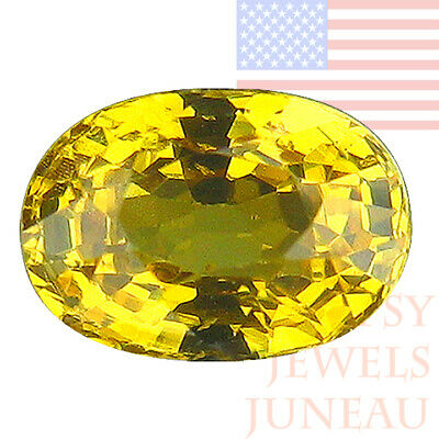 1.58ct Pear Natural Greenish Yellow Mali Garnet