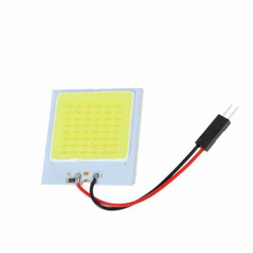 White 48 SMD COB LED T10 4W 12V Car Interior Panel Light Dome Lamp Bulb w7