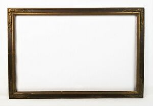 Antique-Art-Nouveau-Ornate-Gold-Gesso-Picture-Frame-Fits-22-034-x-14-034