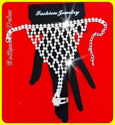 Bracelet Hand Jewelry Orient Wedding Belly dance white/Silver #Model