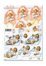 LeSuh 3D Motivbogen Etappenbogen Bastelbogen Grußkarte Baby (177)