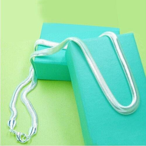 wholesale New Fashion 6 mm 925 Sterling Argent 1 Serpent Collier TN133 Livraison gratuite