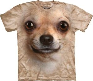 New-The-Mountain-Chihuahua-Face-T-Shirt