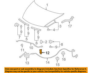 image is loading honda-oem-07-11-civic-hood-support-prop-