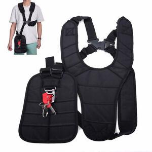 New-Strimmer-Padded-Belt-Double-Shoulder-Harness-Strap-fr-Brush-Cutter-amp-Trimmer