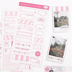 6pcs calendar photo paper sticky notes scrapbook diary planner craft