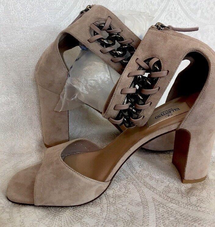 negozi al dettaglio Valentino scarpe New Beige Beige Beige suede ankle chain design Dimensione 40  nuovi prodotti novità