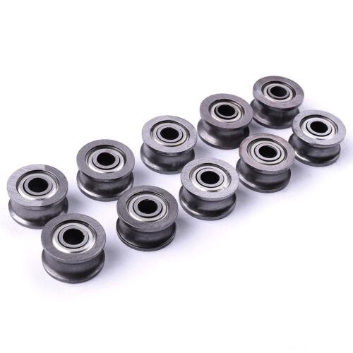 10x 624UU Groove Guide U Type Pulley Sealed Rail Ball Bearing U groove 4x13x7mm
