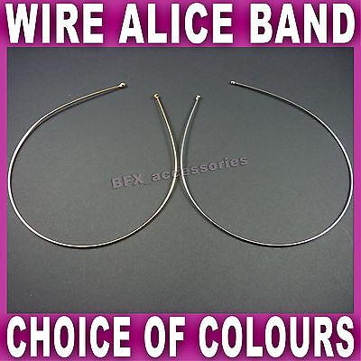 Tiara Headband Gold or Silver Double Row Wire Plain Hair Band Wedding Bridal