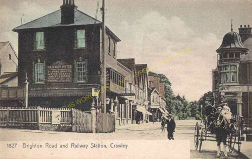 Three Bridges Crawley Railway Station Photo Horsham Line LB/&SCR 6 Ifield