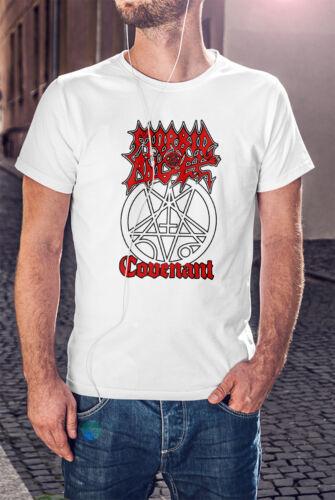 MORBID ANGEL COVENANT Men White T-shirt Death Metal Band Tee Shirt
