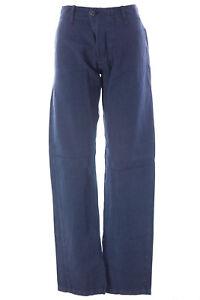 BLUE-BLOOD-Men-039-s-Journey-French-Navy-Cotton-Blend-Pants-MBLS0759-250-NWT