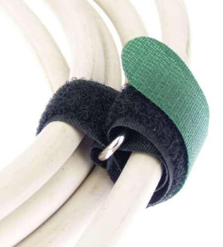50 Klettkabelbinder 300 x 20mm dunkelgrün Klett Kabelbinder Klettband Kabelklett