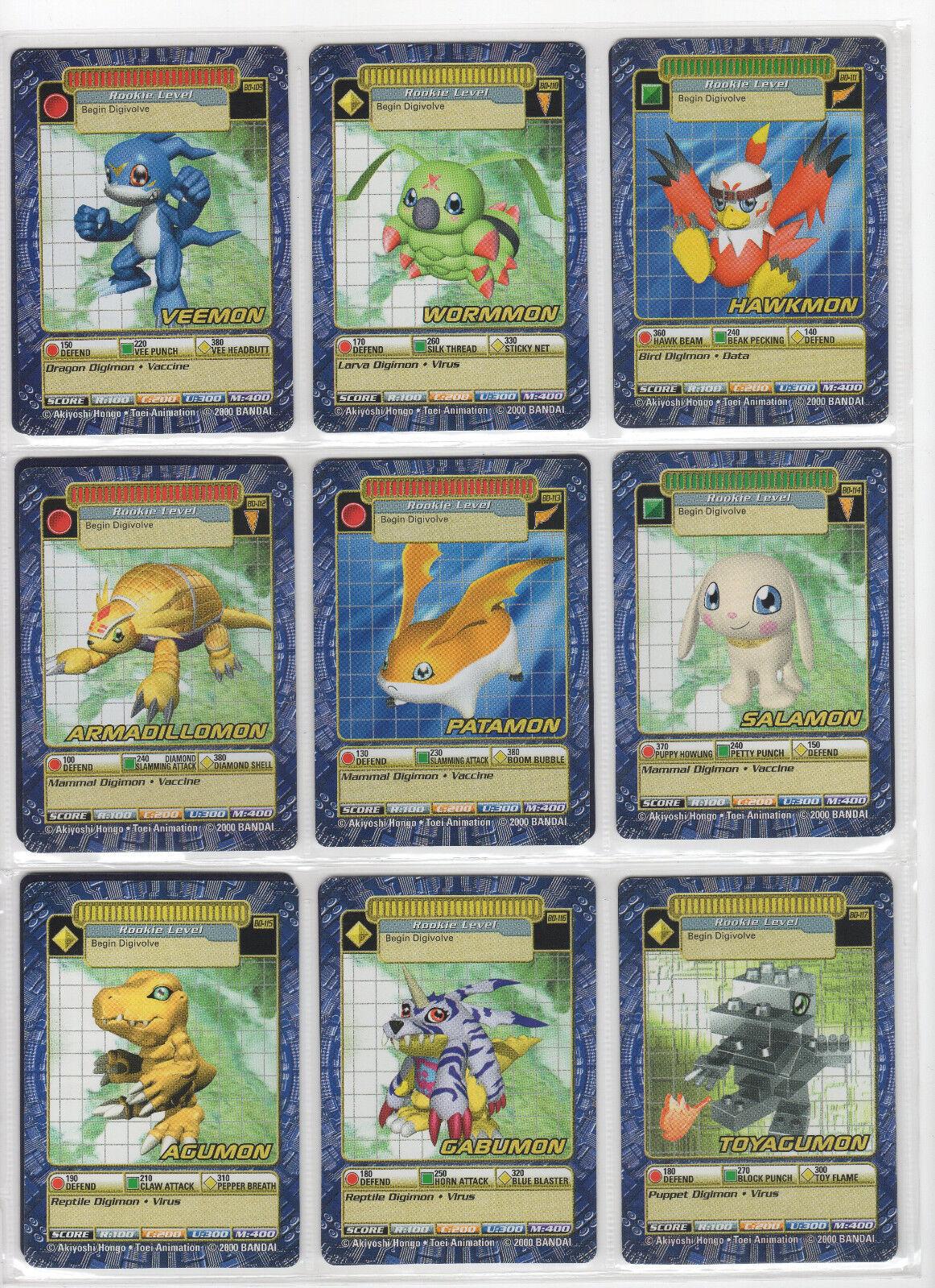 Tarjeta de batalla Digimon Digi-juego serie 3 casi completo conjunto oro texto Casi Nuevo