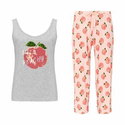 Avon Life's Peachy PJs Summer Cropped Pyjamas /& Vest Top UK 10//12 /& 14//16 Sealed