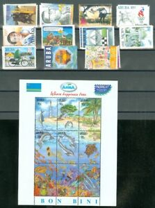 EDW1949SELL : ARUBA Collection of all DIFFERENT VF, Mint NH Cplt sets Sc Cat $88