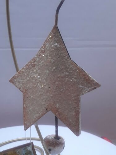 Christmas Ornament The Round Top Collection metal white star bell