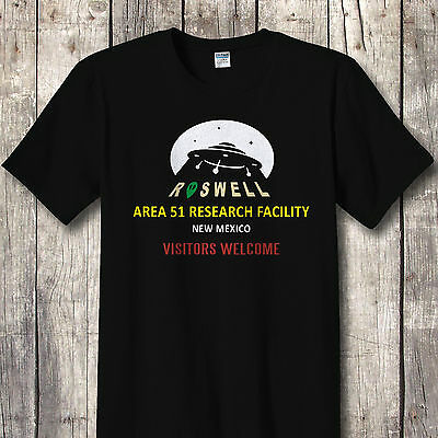 Area 51 T-Shirt Funny aliens ufo conspiracy Womens Ladies top