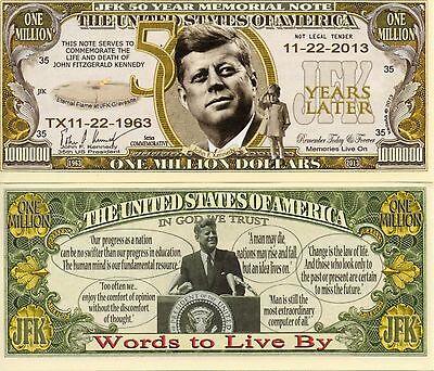 John F Kennedy 50th ANNIVERSARY of ASSASSINATION 1963-2013 U.S $2 Bill OSWALD