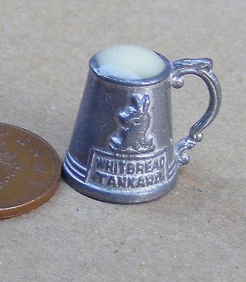 1:12 Pewter Full Ale Half Pint Tankard Dolls House Miniature Bar Accessory 594