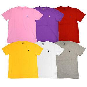 6111ae4f Polo Ralph Lauren Mens Crew Neck Classic Fit T-Shirt Pony Logo ...