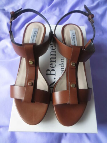 BNIB Summer 2016 L K Bennett Kami Tan leather Sandalsshoes sz 4.537.5