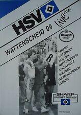Programm Pokal 1990/91 HSV Hamburger SV - Wattenscheid