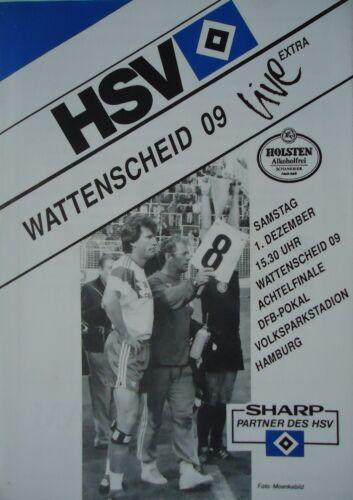 Wattenscheid Programm Pokal 1990//91 HSV Hamburger SV
