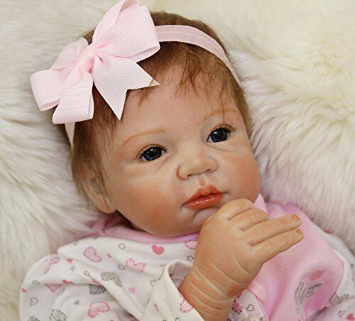 MaiDe Reborn Bambola molle del bambino di simulazione del silicone vinile  u4G
