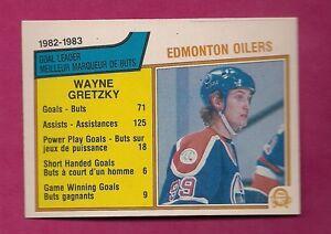 1983-84-OPC-22-OILERS-WAYNE-GRETZKY-GOAL-LEADER-NRMT-MT-CARD-INV-4591