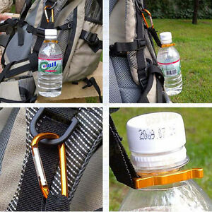 Water Bottle Holder Hook Belt Clip Buckle with Keyring Carabiner Travel Camping