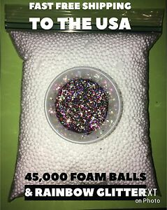 Foam Beads White Styrofoam Balls For Floam And SLIME DIY GIFT new