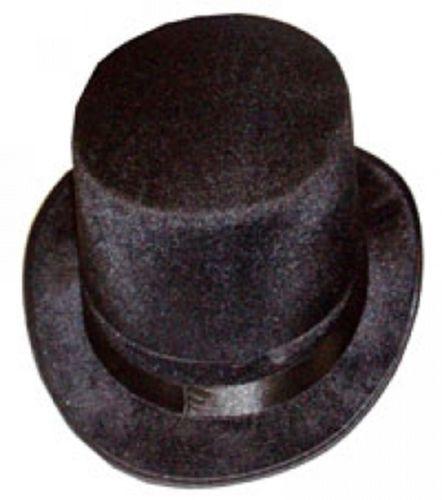 Les Adultes Unisexe Magicien Noir Chapeau Haut de Forme Baguette Magique Topper Deluxe Magic Deluxe Show