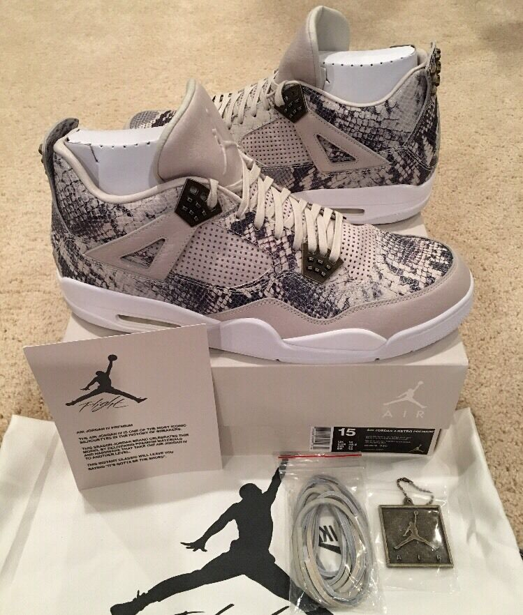 Nike Air Jordan Retro 4 IV Premium Snakeskin Size 15 Sample Pony Hair Pinnacle