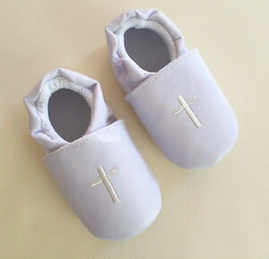 Baby-Boy-Girl-White-Christening-Cross-Formal-Wedding-Shoes-0-12m-Size-2-3-4