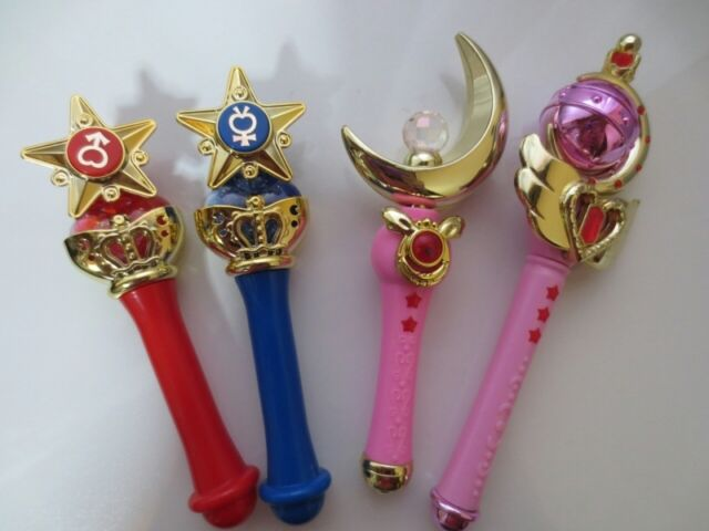 Pretty Guardian Sailor Moon Stick & Rod Wand Charm Part 1 Gashapon Full Set of 4