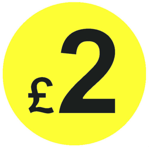 Large 45mm Bright Yellow /& Black Price Point Stickers Sticky Labels 99p £1 £2