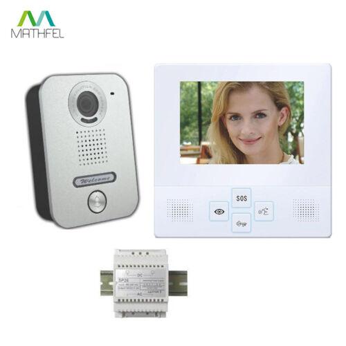 """4 cable video türsprechanlage con 4/"""" Monitor blanco"""