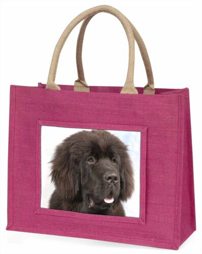 Newfoundland Dog Large Pink Shopping Bag Christmas Present Idea AD-NF1BLP