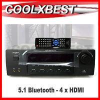 5.1 Av Home Theatre Receiver Amplifier 660w Bluetooth 4 + 1 Hdmi Kahts51
