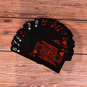 Creative-Waterproof-Black-Plastic-PVC-Poker-Table-Board-Game-Playing-Cards
