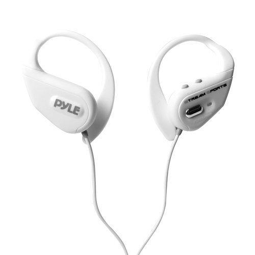 Pyle PWBH18WT Waterproof blutooth Streaming Headphones wBuiltin Mic, bianca