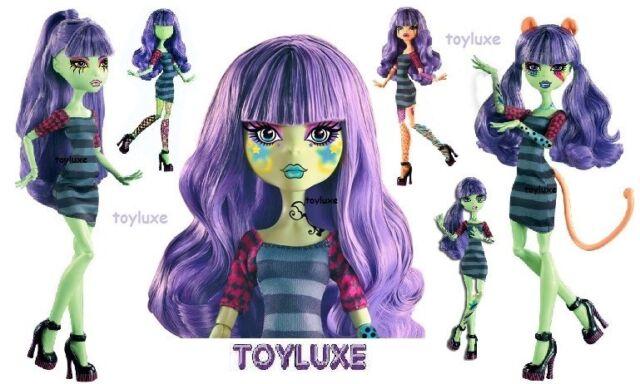 Monster High Create-A-Monster Design Lab Set - Doll Body 100+ Tattoos Purple Wig