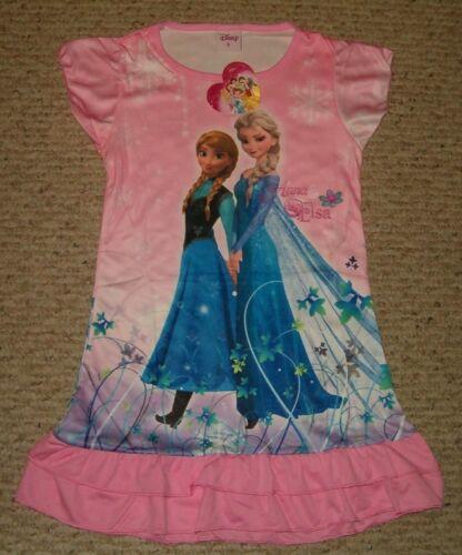 Disney Frozen Anna Elsa Nightgown Pajama Front Back Design 3//4-5//6-7//8-9//10